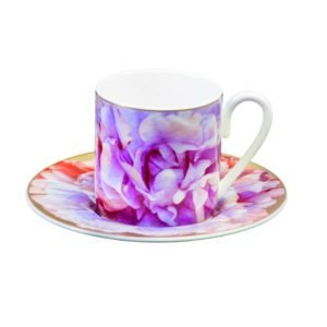 Eden pink espresso cup & saucer