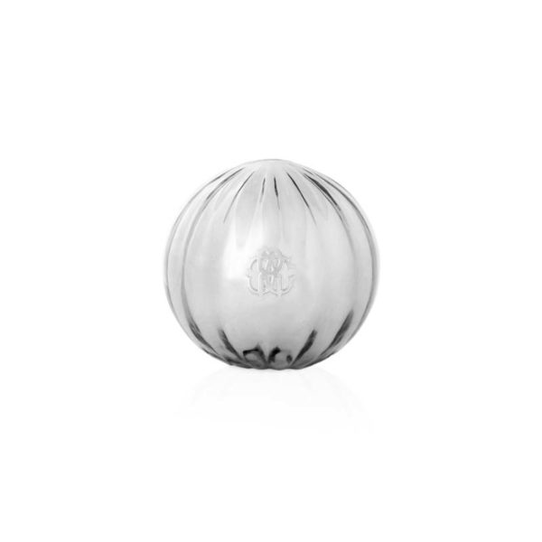 Clear ribbed vase Murano