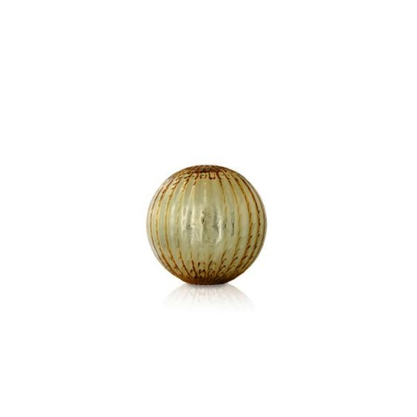 Small/medium striated gold globe Murano