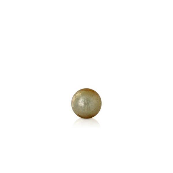 Small bubbled globe gold Murano