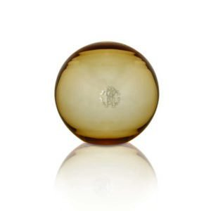 Murano mirror gold sphere large