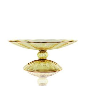 Minerva amber glass tazza