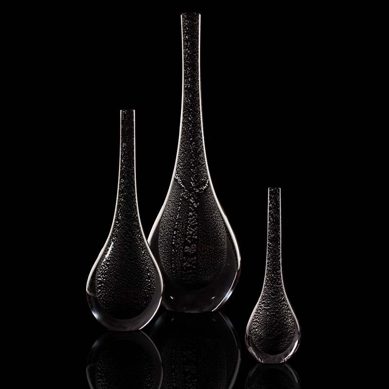Plinio black with silver inclusions