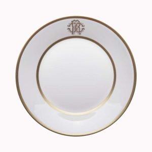 Silk gold soup plate