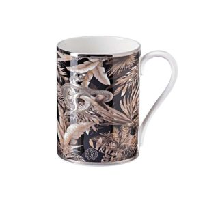 Tropical jungle black mug