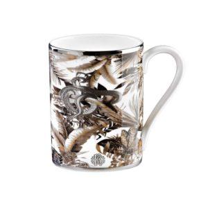 Tropical jungle porcelain mug