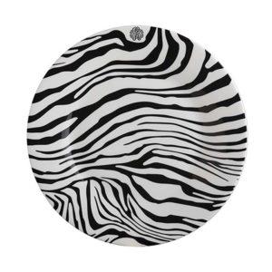 Zebrage dessert plate