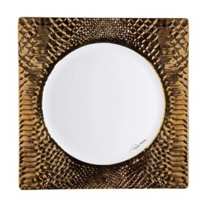 Python gold square dish