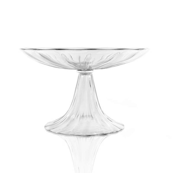 Tall clear Minerva tazza
