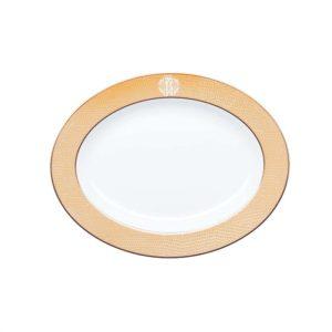 Lizzard gold large oval serving platter
