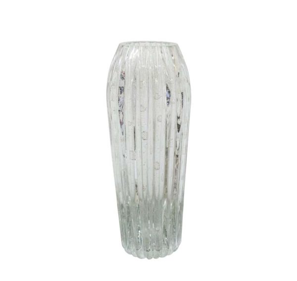 Minerva vase with silver inclusions