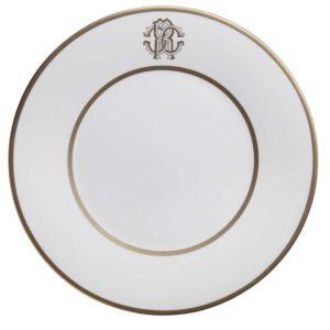 Silk gold dessert plate