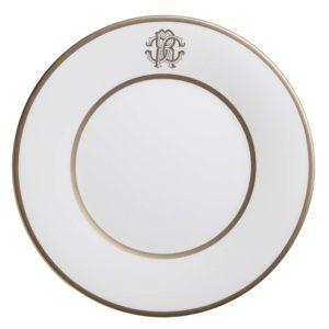 Silk gold dinner plate