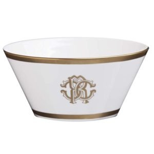 Silk gold fruit bowl