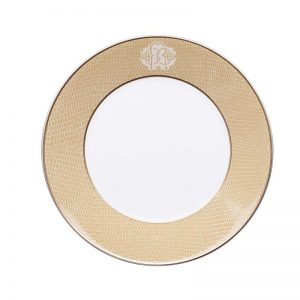 Lizzard gold soup plate