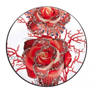 Rose jewel charger plate