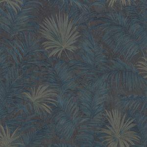 Exotic palm dark blue