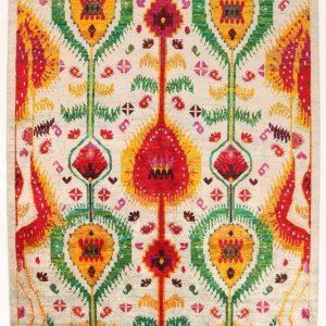 Sari silk carpet 312 x 243 cm